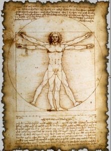 graphic: Leonardo daVinci, The Vitruvian Man